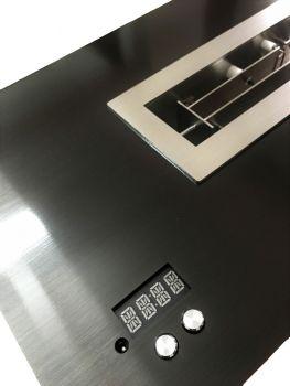 Cheminée sur mesure-iBurner-vBurner-coloris noir anodisé